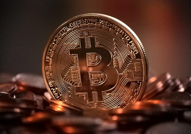 Kryptoměna bitcoin. Její hodnota zatím sále roste 11/2017